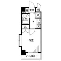 【夏割】アットイン駒沢大学1間取図