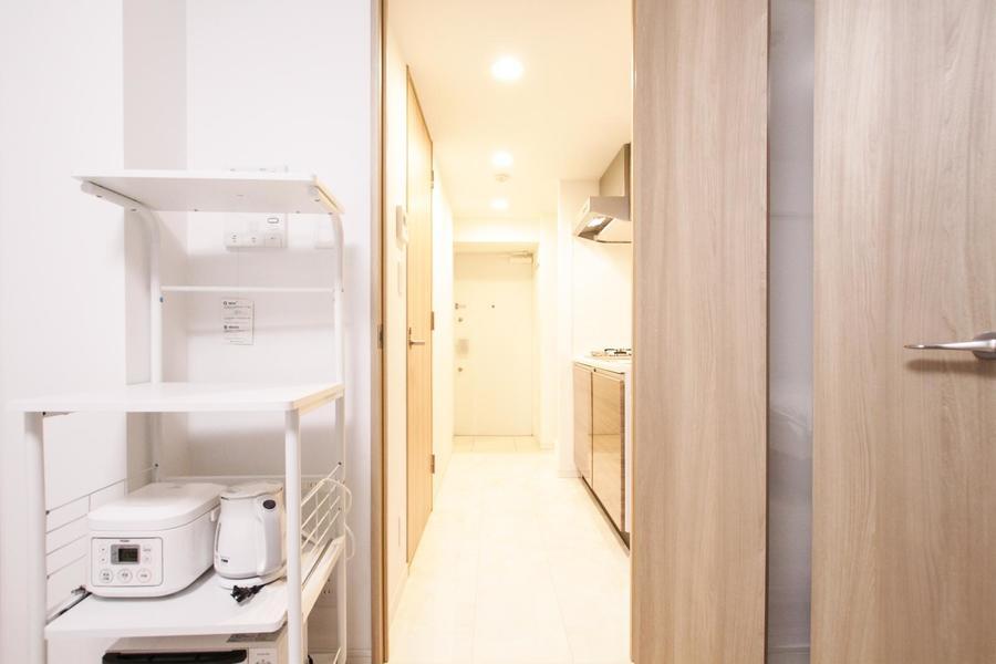 仕切り扉を開け締めすることで空気の入れ替え、室温管理も可能