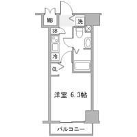 【キャンペーン】アットイン品川2間取図