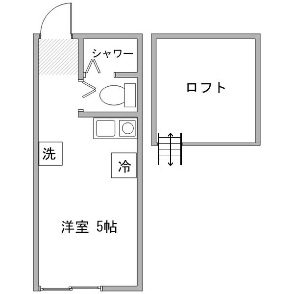 【長期割】アットイン川崎11-2の間取り
