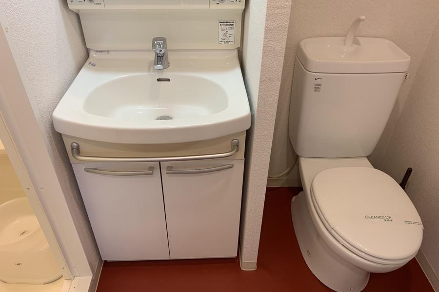 独立洗面台・トイレ(ウォシュレット無し)