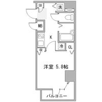 アットイン日本橋8-1間取図
