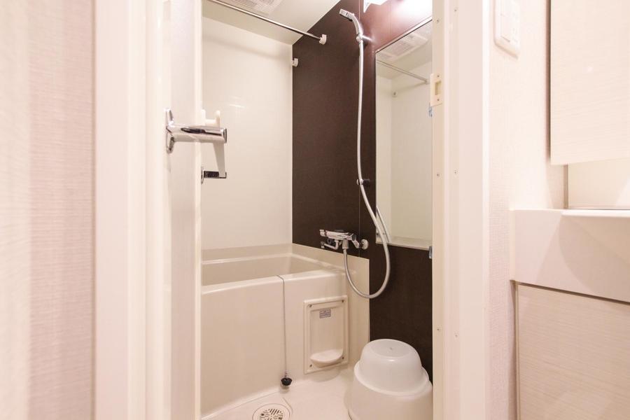 ゆったり過ごせるバスルーム。1日の疲れを洗い流してくれます