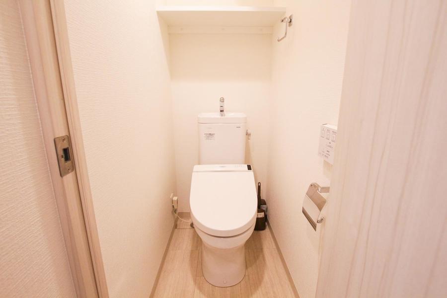 お手洗いは独立タイプで衛生面も安心です
