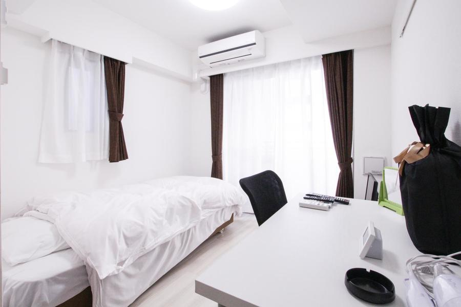 ホワイトを基調としたお部屋は清潔感に溢れています