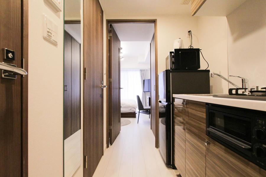 廊下とお部屋の間には段差がないため暗い中の移動も安心