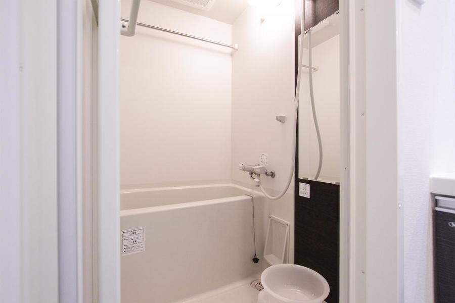 ゆったり寛げるバス空間。嬉しい浴室乾燥機付き