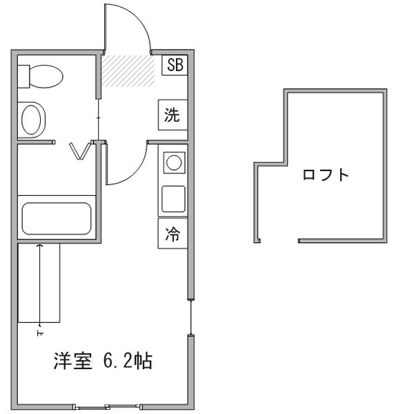 【ロング割】◆アットイン新横浜2の間取り