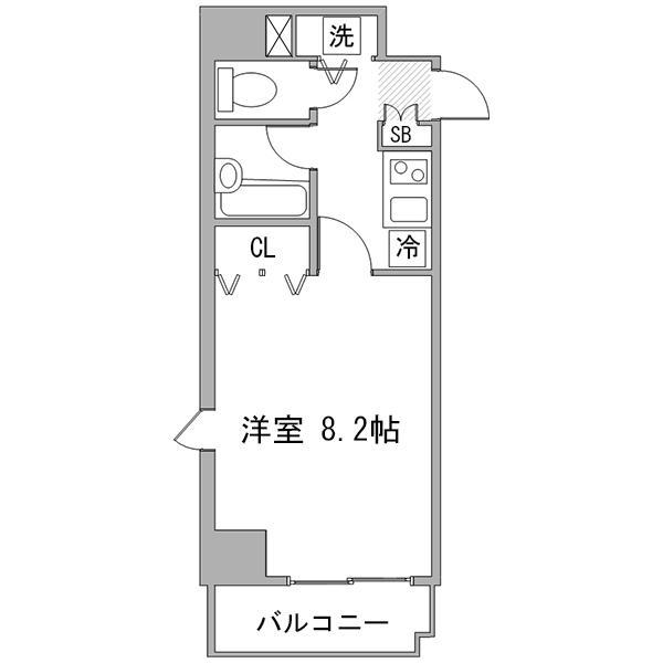 アットイン東新宿2の間取り