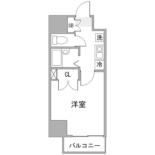 ◇アットイン新宿9の間取り