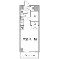 【冬割】◇アットイン武蔵小杉2-1間取図