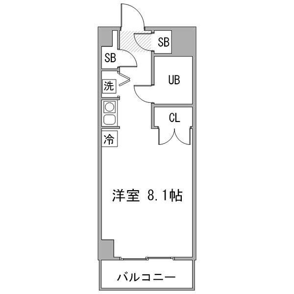 【長期割】◇アットイン武蔵小杉2-1の間取り