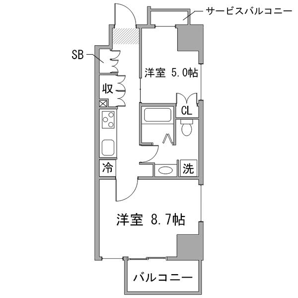 ◇アットイン浅草橋3の間取り