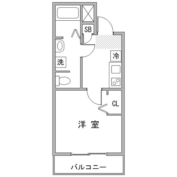 ◇アットイン蒲田3の間取り