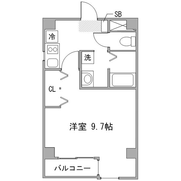 ◇アットイン横浜13の間取り