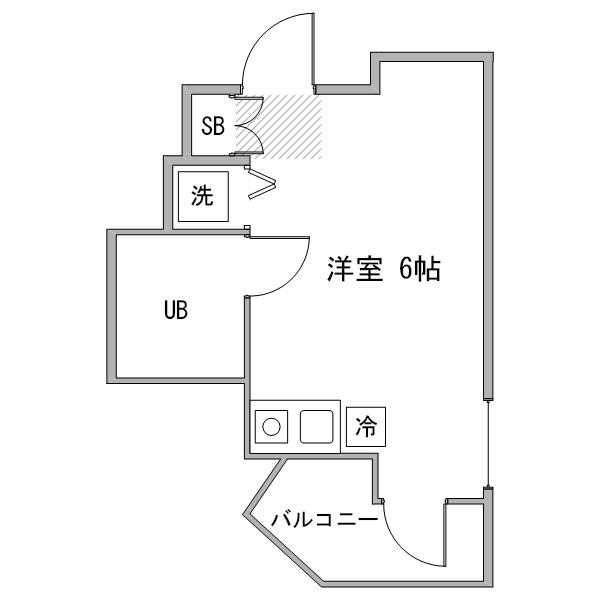 【冬先取りキャンペーン】アットイン武蔵小金井1-1の間取り
