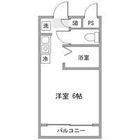 【Happy割】◇アットイン四ツ谷1間取図