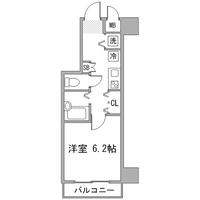 ◇アットイン東中野1間取図