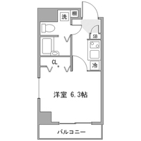 【Happy割】アットイン新宿2-1間取図