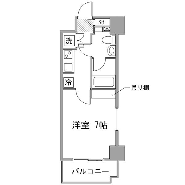 ◇アットイン横浜16の間取り