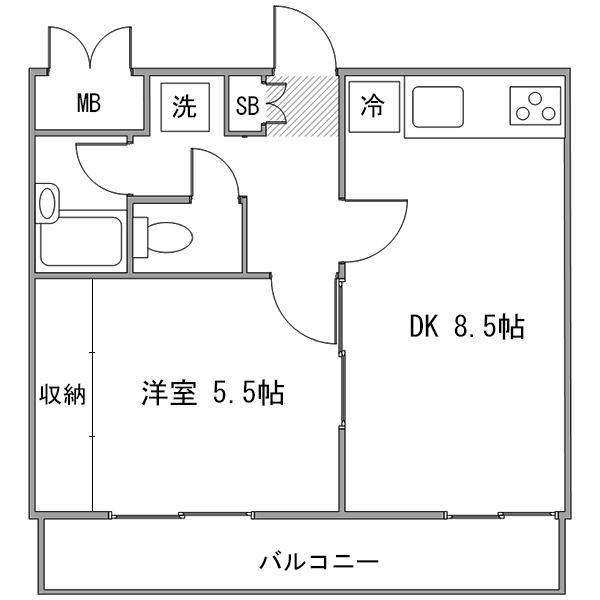 【秋割】◇アットイン横浜14-6の間取り