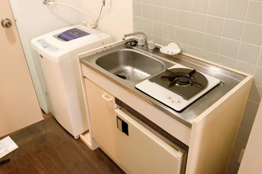 キッチンはシンプルかつコンパクトで使いやすさを重視