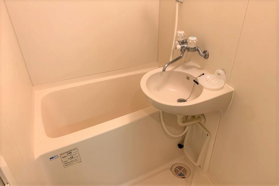 毎日の疲れを洗い流してくれるバスルーム