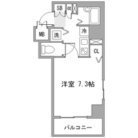 アットイン横浜関内1間取図