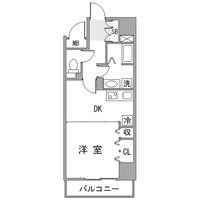 アットイン横浜関内2間取図