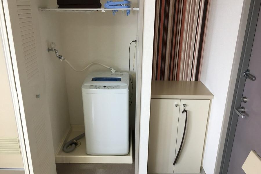 洗濯機は衛生面でも安心の室内置き