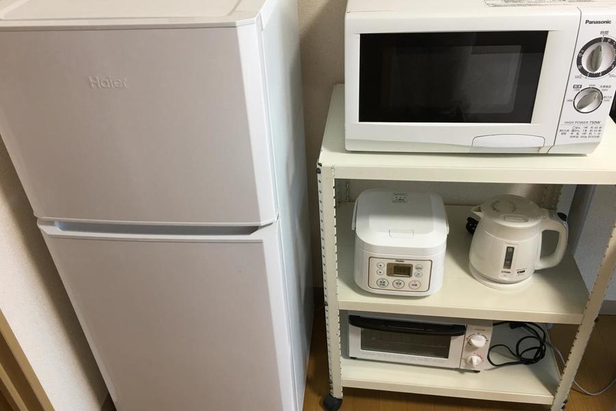 キッチン家電類は室内にまとめてすっきり