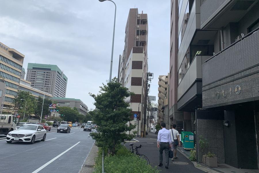 靖国通り(市ヶ谷方面)