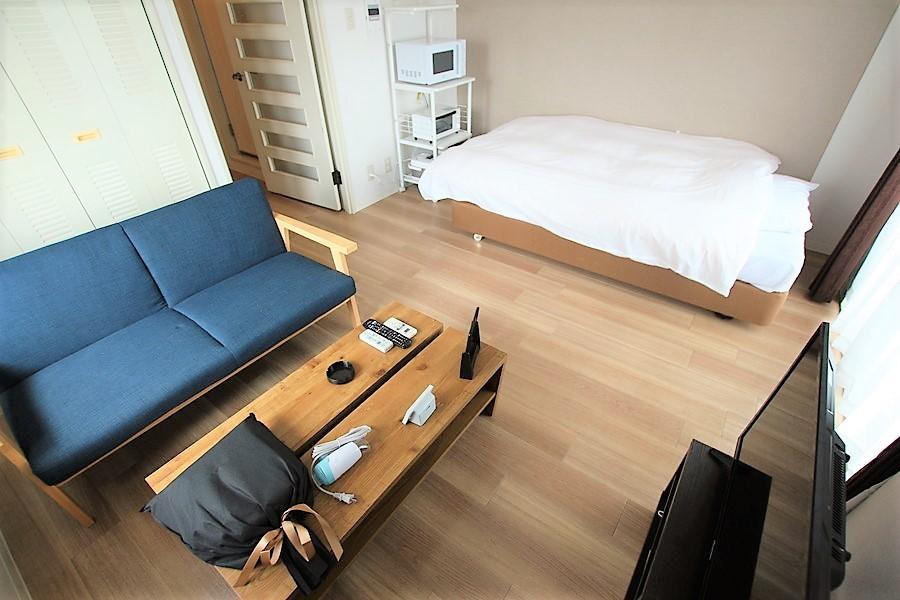 家具・家電類を置いてもゆとりある室内