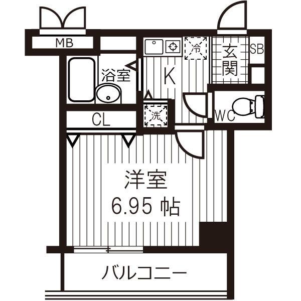 【夏割】アットイン日本橋6-1の間取り