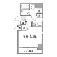 【ロング割】アットイン北新宿1間取図