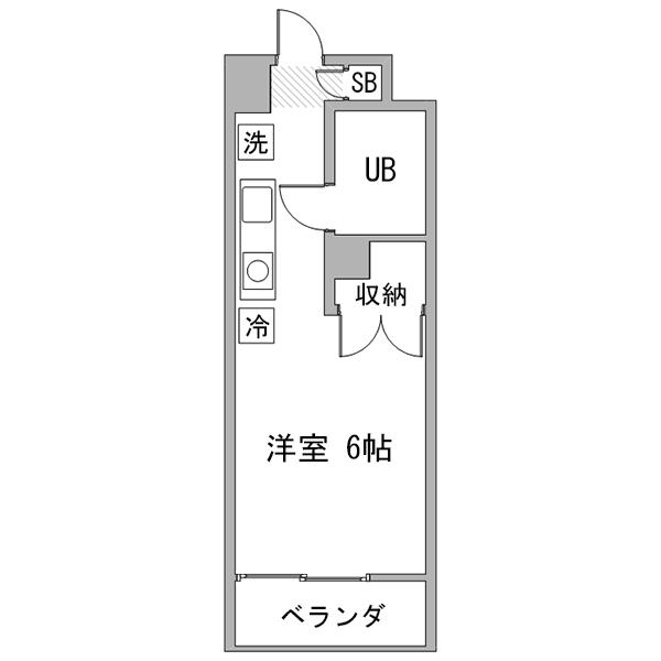 【長期割】アットイン横浜2の間取り