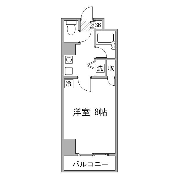 【長期割】アットイン横浜14-1の間取り