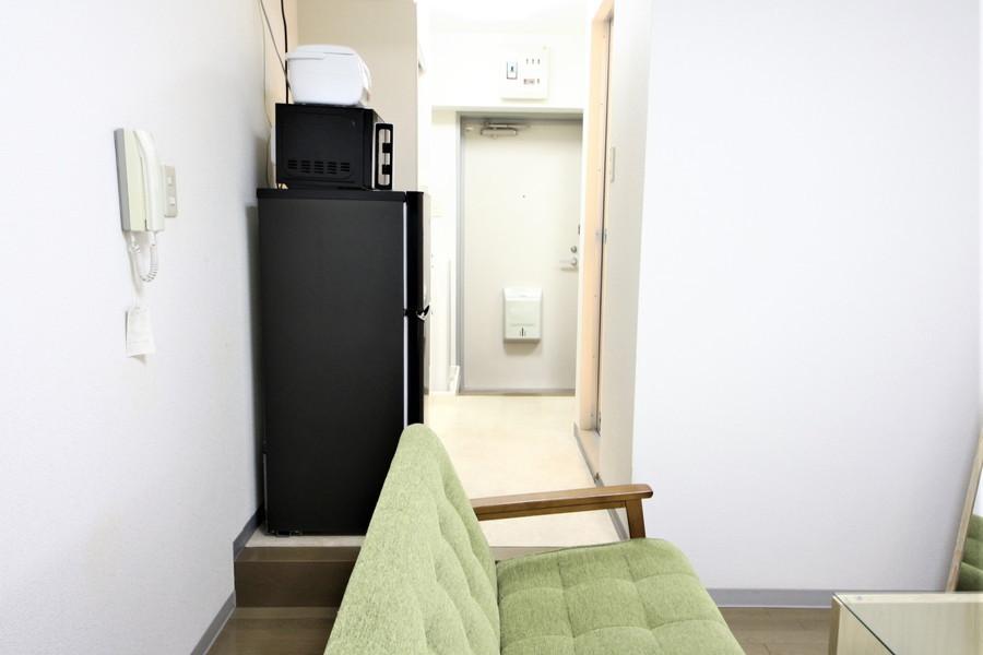 お部屋と廊下に扉がないので見通しはすっきり