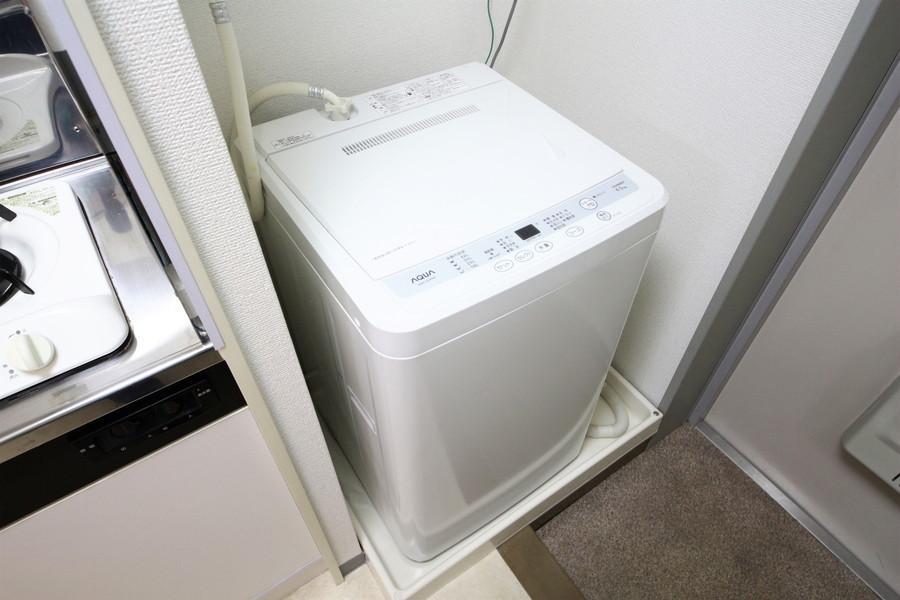 衛生面が気になる洗濯機は室内設置です