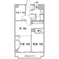 【ロング割】アットイン本厚木7間取図