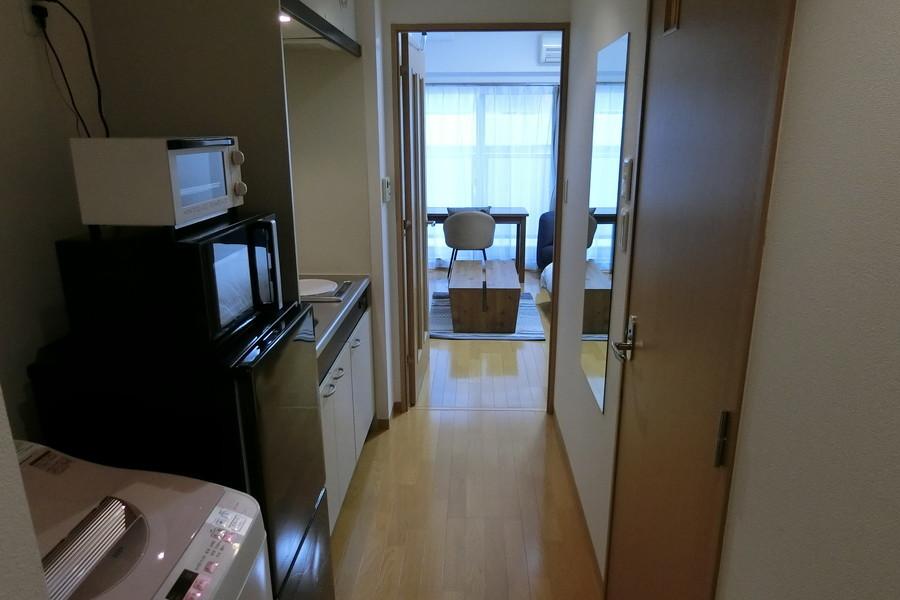 お部屋と同じフローリングタイプ。床面の段差も少なく安心です