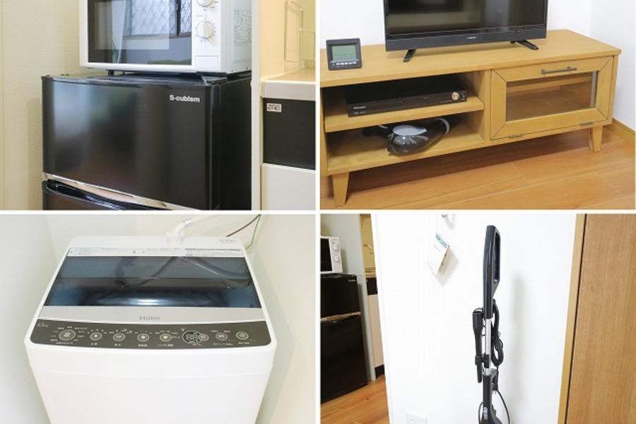 家具・家電類はセッティング済。お荷物一つでご入居できます