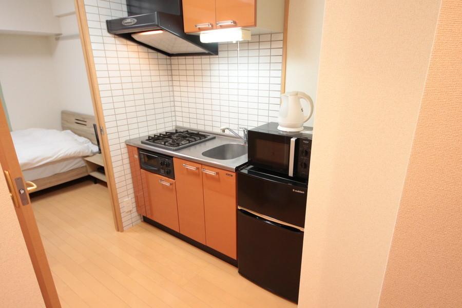 キッチン周辺は広めに取られており、お料理もゆったりらくらく