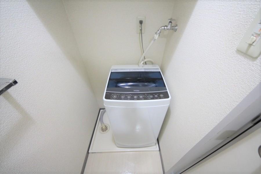 洗濯機は衛生面、耐久面でも安心の室内置きタイプ